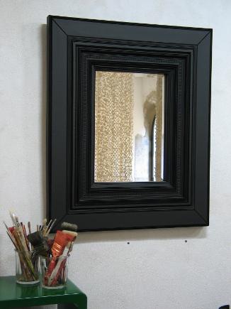 Carton noir c cile chappuis pi ces uniques en carton for Miroir encadrement noir
